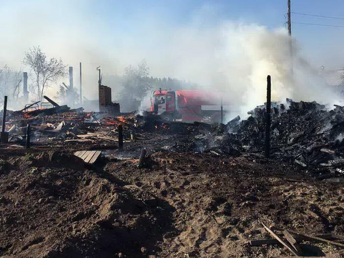 Виновником пожара впоселке Горячий Ключ стал местный гражданин