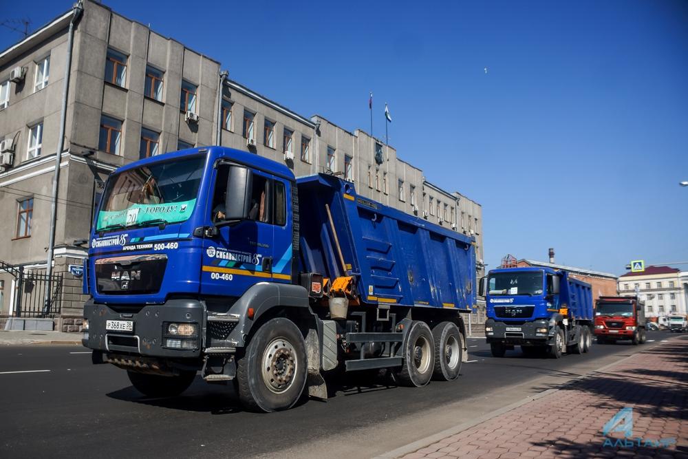КоДню строителя Иркутску подарили около тысячи тонн песка ищебня