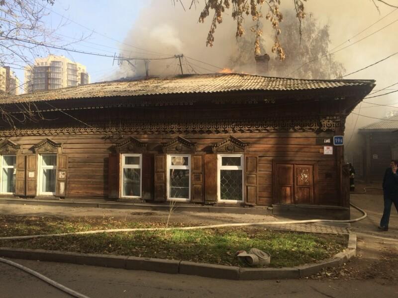 ВИркутске впожаре вдоме наулице Бабушкина пострадал человек