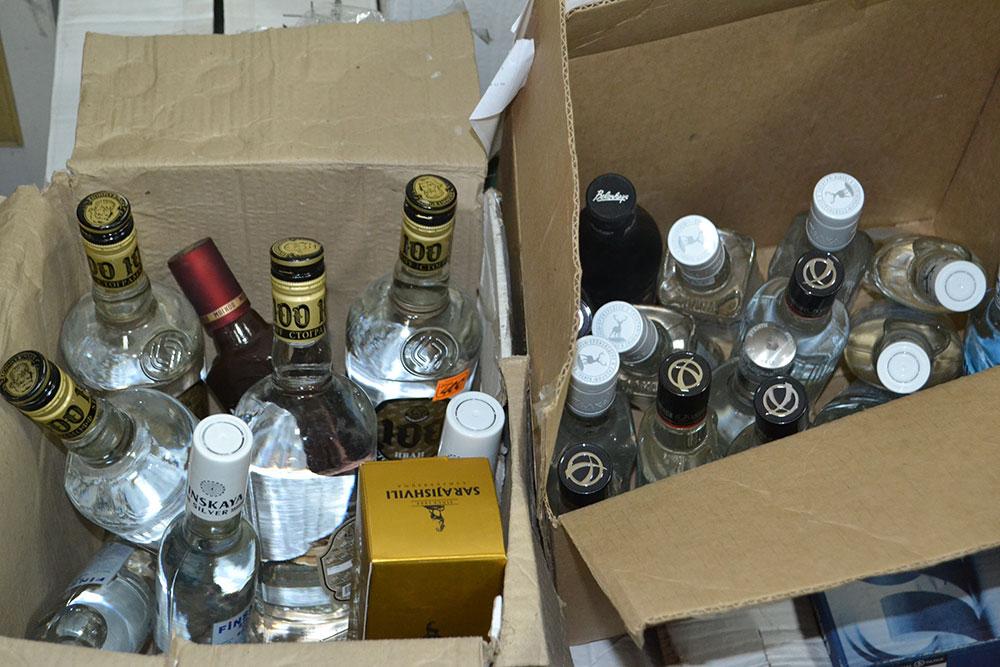 ВПриангарье уничтожили 1,8 тысячи бутылок контрафактного алкоголя