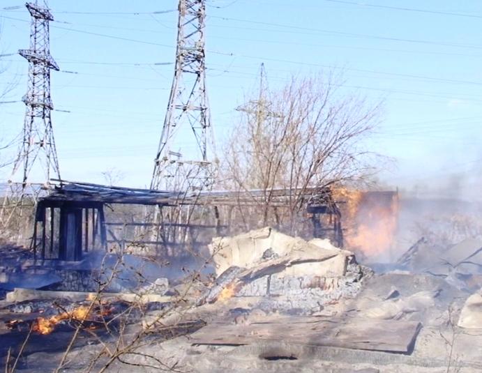Внезаконном дачном поселке Братска произошел пожар