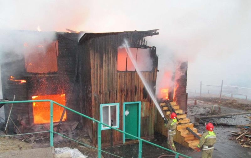 Восемь детей остались без крова после пожара вИркутской области