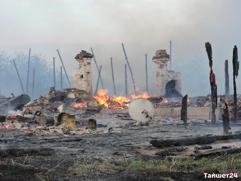 40 домов сгорело в 5-ти поселениях Тайшетского иЧунского районов