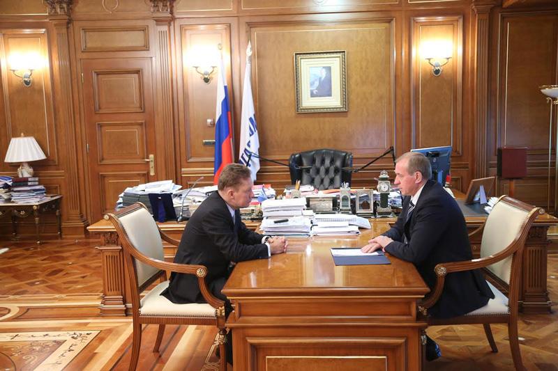 Левченко обсудил сМиллером освоение Ковыктинского месторождения